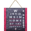 Image for Prints Charming Wisconsin Eye Chart Sign *