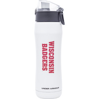Image For Spirit Products Under Armour Wisconsin Water Bottle (White)