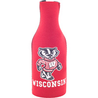Image For Gift Pro Inc. Wisconsin Badgers Bottle Coozie (Red)