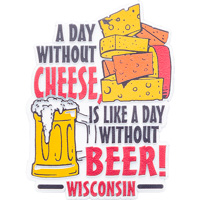 Image For Gift Pro Inc. A Day Without Cheese Magnet