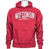 Image for Blue 84 Distressed Wisconsin Hooded Sweatshirt (Vintage Red)