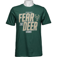 Image For '47 Brand Fear the Deer Bucks 2019 Playoff T-Shirt *