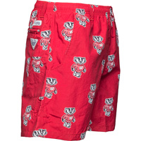 Image For Columbia Bucky Badger Big Dippers Water Shorts (Red)*