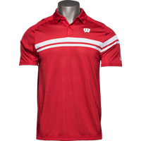 Cover Image For Under Armour Wisconsin Badger 2019 On-Field Polo (Red)