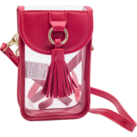 Cover Image For Capri Designs Clear Phone Purse (Red)