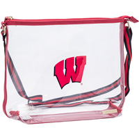 Cover Image For Capri Designs Wisconsin Clear Shoulder Bag (Red)