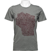 Cover Image For Brew City Wisconsin Counties Shirt (Gray)