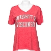 Cover Image for Champion Women's Wisconsin ¾ Sleeve Shirt (Red)