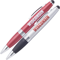 Image For Fanatic Cards Wisconsin Pen Two Pack (Red/Silver)