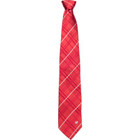 Cover Image For Eagle Wings Wisconsin Plaid Tie (Red/White)