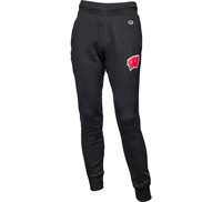Image For Champion Wisconsin Motion W Sweatpants (Black)