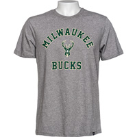 Cover Image For '47 Brand Milwaukee Bucks T-Shirt (Gray)