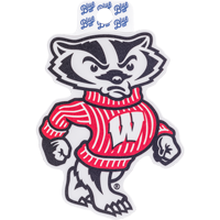 Image For Blue 84 Wisconsin Bucky Badger Decal
