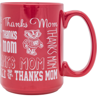 Cover Image For R.F.S.J. Inc Bucky Badger Thanks Mom Mug (Red)
