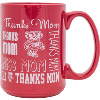 Image for R.F.S.J. Inc Bucky Badger Thanks Mom Mug (Red)