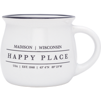 Cover Image For Neil Enterprises, Inc. Madison, WI Happy Place Mug (White)