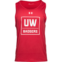 Image For Under Armour UW Badgers Tech Tank (Red)