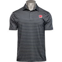 Cover Image For Under Armour Motion W Playoff Tour Stripe Polo (Black) *