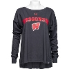 Image for Under Armour Women's Wisconsin Long Sleeve T-Shirt (Black)