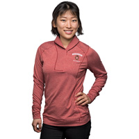 Image For Cutter & Buck Women's Wisconsin Alumni Half-Zip (Red) *