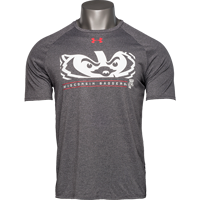 Cover Image For Under Armour Bucky Badger Eyes T-Shirt (Charcoal)