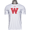 Image for Under Armour Wisconsin W Performance Cotton T-Shirt (White)