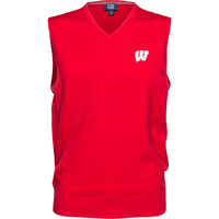 Cover Image For Cutter & Buck Wisconsin Sweater Vest (Red)