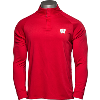 Image for Under Armour Wisconsin ¼ Snap Long Sleeve (Red)