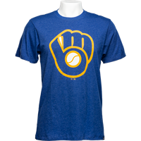 Cover Image For '47 Brand Milwaukee Brewers Glove T-Shirt (Royal)
