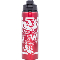 Cover Image For Neil Enterprises, Inc. Vault Bucky Badger Water Bottle (Red)