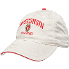 Cover Image for Legacy Adjustable Wisconsin Alumni Hat (Stone/Scarlet)