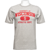 Cover Image For Champion Arch Wisconsin Athletic Tee (Gray)