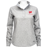 Cover Image For Under Armour Women's Knit Quarter Snap (True Grey Heather)