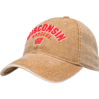 Cover Image For Legacy Dashboard Wisconsin Badgers Adjustable Hat (Camel)