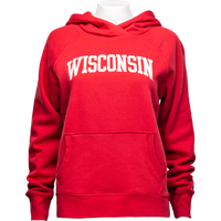Cover Image For League Women's Wisconsin Hoodie (True Red)