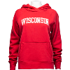 Cover Image for '47 Brand Women's Wisconsin Vault Hoodie (Red/Charcoal)