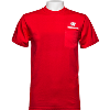 Image for Top Promotions Motion W Wisconsin Pocket Tee (Red) Tall