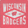 Image for Legacy Wisconsin Badgers Diamond Wood Magnet