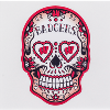Image for Dizzlers Wisconsin Badgers Sugar Skull Sticker Large