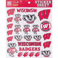 Cover Image For Dizzlers Wisconsin Badgers Sticker Sheet