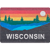 Image for Legacy Wisconsin Colorful Horizon Magnet