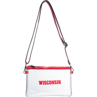 Cover Image For Neil Enterprises, Inc. Wisconsin Clear Cross Body Bag (Red)