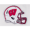 Image for Dizzlers Wisconsin Badger Football Helmet Sticker Small
