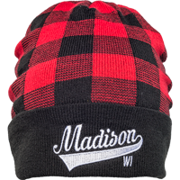 Image For Brew City Madison Knit Hat (Red/Black)