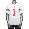 Image for Under Armour Wisconsin Football Jersey #1 3X (White)