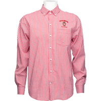 Image For Cutter & Buck Alumni Gingham Button Down (Red/White)