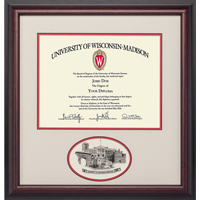 Image For Alumni Artwork UW Oval Diploma Frame