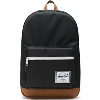 Image for Herschel Pop Quiz Backpack (Black/Tan Synthetic Leather)