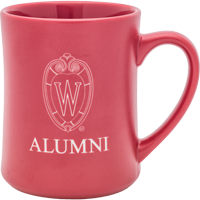 Cover Image For R.F.S.J. Wisconsin Matte Alumni Shield Mug (Red)