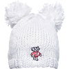 Image for Logofit Bucky Badger Knit Double Pom Hat (White)
